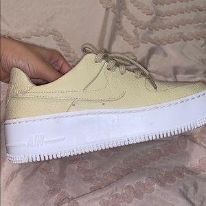 Tan Nike Airforce 1's